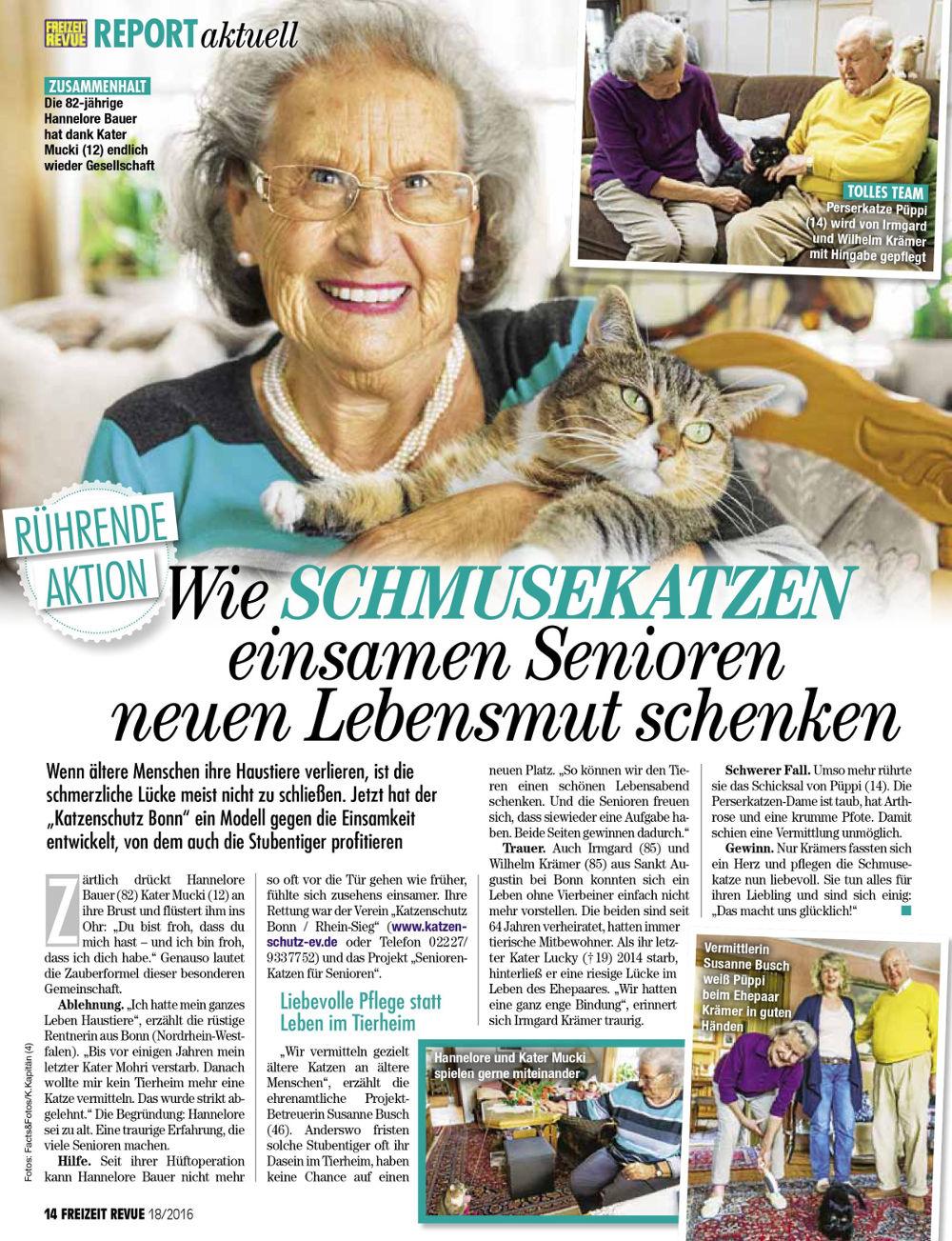 """""""Senioren für Senioren"""" in der Freizeit-Revue"""