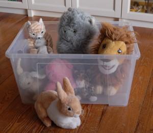 Aufbewahrungsboxen für Plüschtiere gesucht