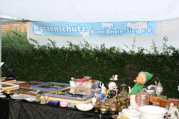 Stand auf dem Bonner Rhein-Antik-Markt
